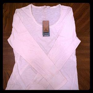 Prana cream colored yoga shirt